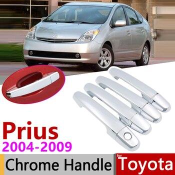 Para a Toyota Prius XW20 Touring 2004 ~ 2009 Chrome Exterior Maçaneta Da Porta Acessórios Do Carro Tampa Adesivos Guarnição Set 2005 2006 2007 2008