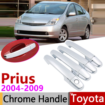 for Toyota Prius XW20 Touring 2004~2009 Chrome Exterior Door Handle Cover Car Accessories Stickers Trim Set 2005 2006 2007 2008