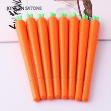 Jonvon Satone 2ps New Carrot Pen Student Neutral Pen Cartoon Vegetable for Gift Creative Stationery Kids School Supplies Writing недорого