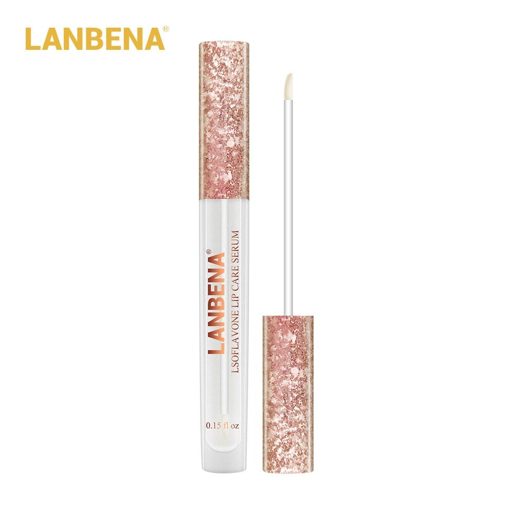 Купить с кэшбэком Lsoflavone Lip Care Serum Lip Plumper Lip Mask Increase Lip Elasticity Reduce Fine Lines Repairing Moisturizing Beauty