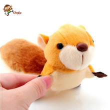 Lovely small squirrel plush toy pendant super cute version type tail ornaments key bag ornaments For Children's Gift Kids Toys