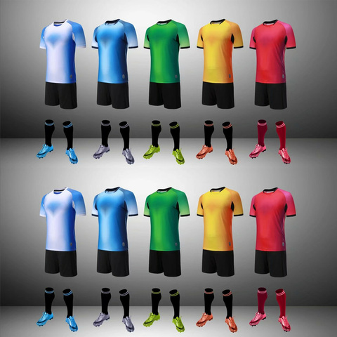 Football Jerseys Kids Survetement Soccer Uniform for Kids Boys Men 2017 2018 Futbol T-shirt Training Suit Maillot De Foot Kit Karachi