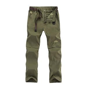 Image 4 - Nuonekoリムーバブル男性の夏速乾貨物パンツ男性通気性ズボン、男性カーキスウェットパンツプラスサイズ 6XL CK108