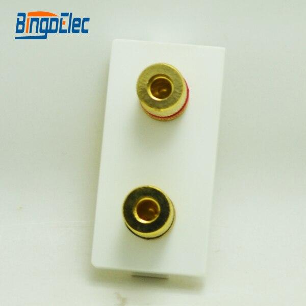Three color 1/2 stereo modular socket part,no frame,EU/UK,CE mark,Hot sale