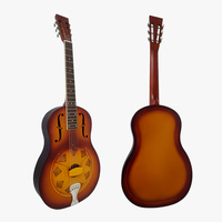 Aiersi Sunburst Colour vintage Bell Brass Body Resonator Guitar With Free guitar case