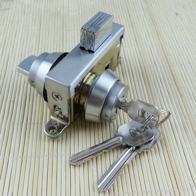 free shipping glass door box lock security lock House Ornamentation Door Hardware Lock stainless steel lock ned single glass door lock 304 stainless steel double open frameless door latches hasps for 10 12mm thickness furniture hardware