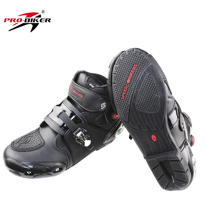 Pro biker professional motorcycle boots men racing motorbike boots botas motorcycles moto riding shoes Size 40