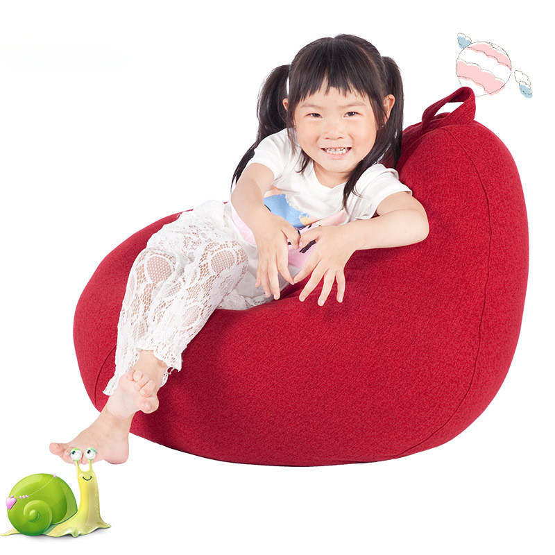 Leisure Small Sofa Bean Bag Children Cartoon Fabric Mobile Lazy Sofa Creative Single Cute Tatami Chair Bed Cover Without Filler