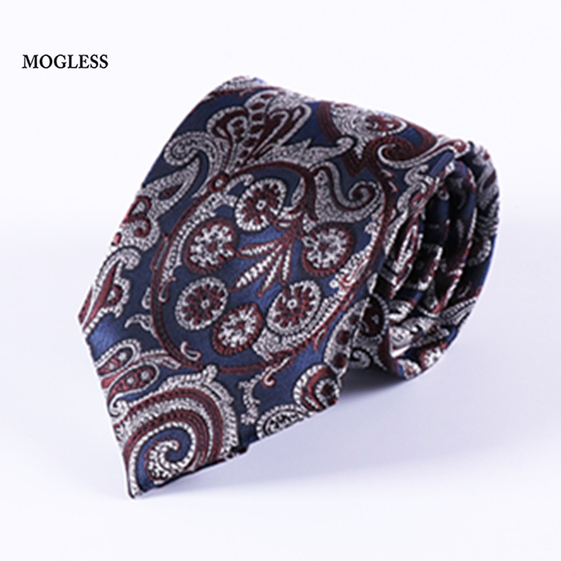 Fashion Retro Style Men's Print Tie Brand Mogless Business Social Wedding Party 8 cm Neckties Bowtie Clothing Accessorie Gift