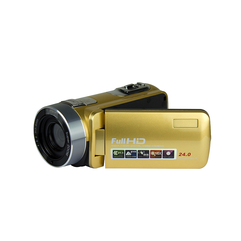 Free Shipping 24MP IR RED Night Vision Digital Video Camera 1920x1080P Full HD 3 Screen Li-Battery Wide Angle Optional