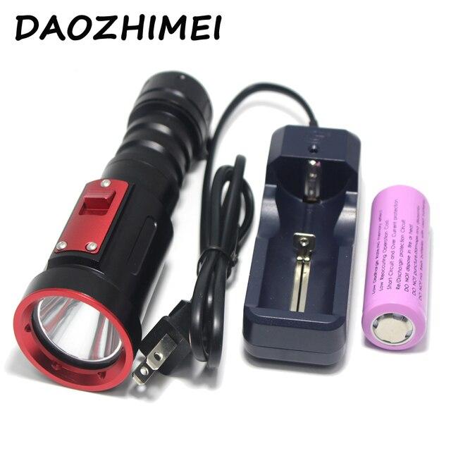 D01 Дайвинг светодиодный фонарик XM-L2 26650 Дайвинг Водонепроницаемый Подводный фонарь для съемки вне помещения с системой светодиодный свет ла...