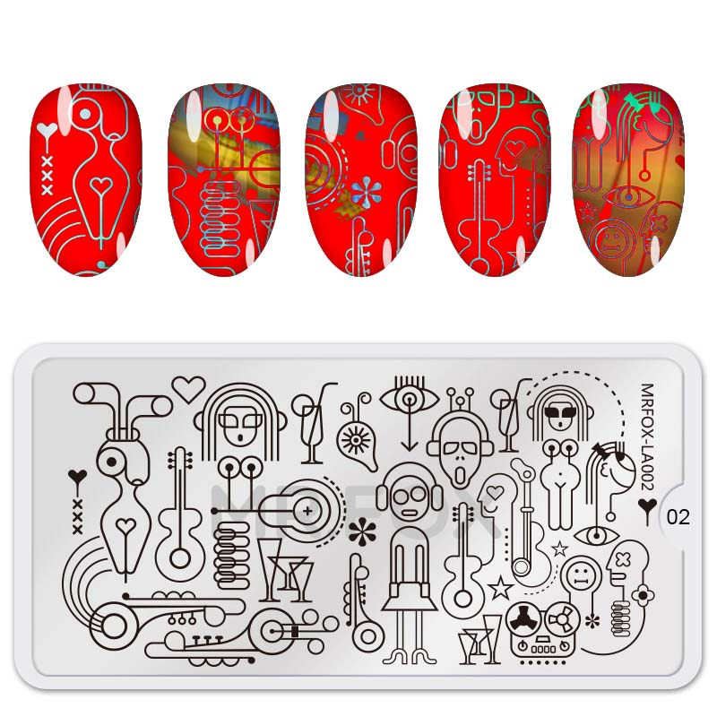 12.5*6.5cm Rectangle Nail Stamping Plates Template Beautiful Design Manicure Nail Art Stamp Image Plate Set