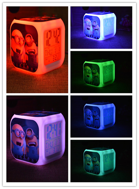 Naruto 7 Colors Change Digital Night Led Clock