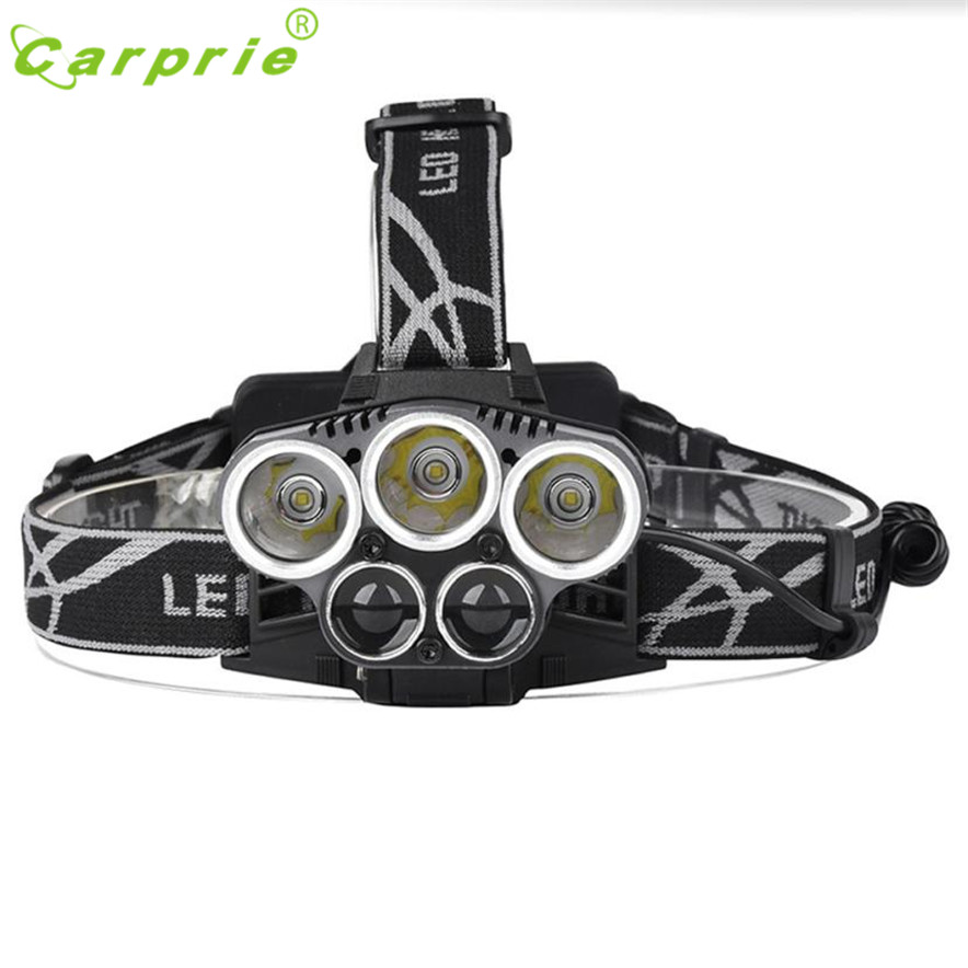 CARPRIE 50000LM 5x XM-L T6 LED Rechargeable USB Headlamp Head Light Zoomable L70328 DROP SHIP ...