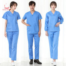 Pure cotton hand washing length short sleeve men and women brush hand clothes hospital work clothes operating room men s and women s printed hand washing clothes pure cotton fabrics can be sterilized at high temperature