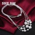 925-sterling-silver esterlina de plata-joyería collier collar declaración joyería collares maxi colar bijoux mujeres 925 peal envío