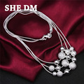 sterling-silver-jewelry collier 925-sterling-silver necklace statement maxi jewelry collares colar bijoux women 925 peal  free