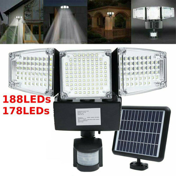 178/188 LED garden light Security Detector Solar Light Motion Sensor Outdoor Floodlight garden street road light
