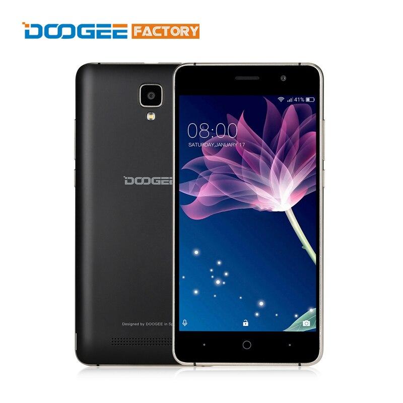 Цена за Новое Прибытие Doogee X10 5 дюймов Android 6.0 Смартфон MT6570 3 Г сотовый Телефон 512 МБ RAM 8 ГБ ROM 5.0 МП Камера Открыл Мобильный телефон