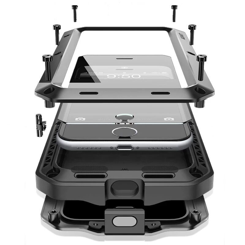 Heavy Duty Защита Doom Броня металлический алюминиевый корпус для мобильного телефона, чехлы для iPhone, 11 Pro XS MAX XR X 10 6s 7 8 плюс противоударный жесткий ...