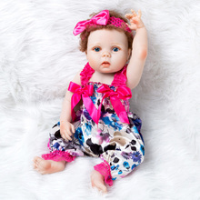 NPK 55cm Soft Silicone Reborn Dolls Baby Realistic Doll Reborn Full Vinyl Boneca BeBe Reborn Doll For Girls Newest цена