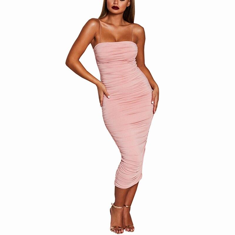 Belle qualité femmes robe rose élégante robe femmes longue Sexy plissée jarretelle robe rouge Sexy moulante Club tenue décontractée vêtements