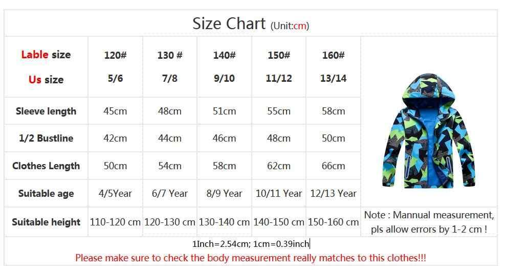 新到着ソフトシェルジャケットカチオン印刷高品質 · ボーイズカジュアル秋春コートハイキングキャンプウインドブレーカー