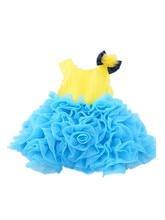 ДЕТСКИЕ WOW Девушка Новорожденный Одежда 1 Год День Рождения Платье цветок Девочки Платья для Свадеб Первое Причастие Платья для Девочек 8037