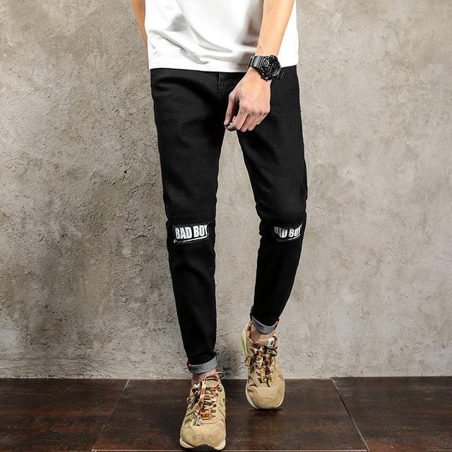 Schwarze skinny jeans zerrissen herren