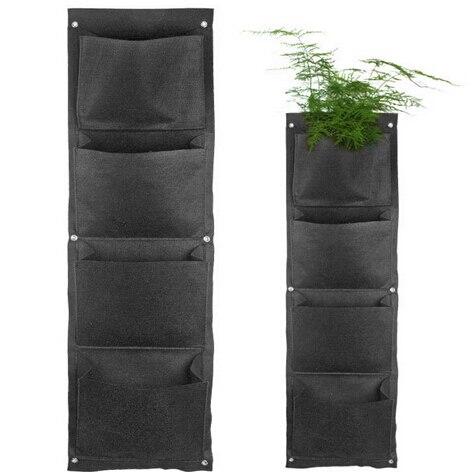 50 pièces en gros décoratif suspendus Vase pot de fleur mur-monté tissu Polyester cultiver sac titulaire planteur vertical jardin