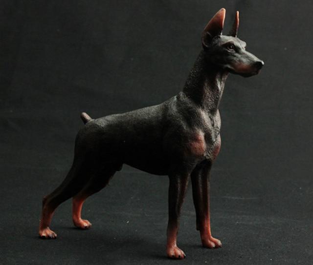 Animals Pet Guard Dog American Bully Pitbull Bulldog Doberman Rottweiler Figure Kids Toys Desktop Action Figure