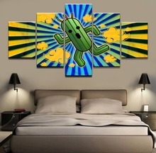 5 Panel Abstract Cactus Poster Canvas Print Game Final Fantasy Picture For  Home Decorative Wall Art Modern Living Room Painting