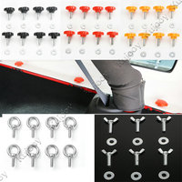 Red Black Silver Yellow Hard Top Quick Removal Fastener Thumb Car Roof Screw With Nut Kit