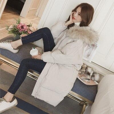2018 Noir D'hiver Genou Femelle Longue Coton Veste Femme Blanc Hiver qavxUwn6