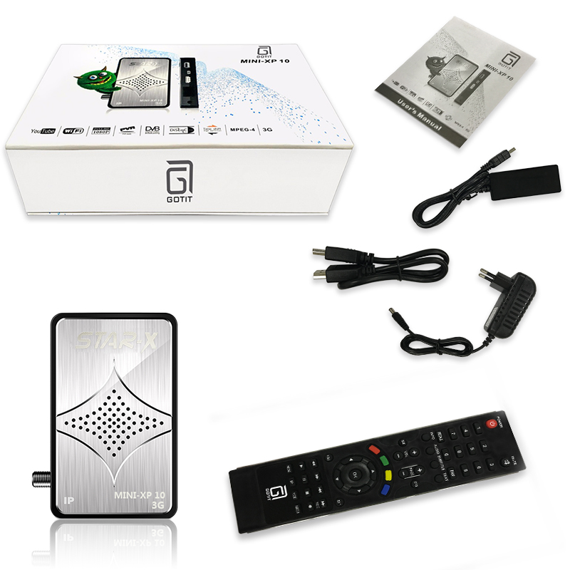 US $53 25 29% OFF|GOTiT MINI XP10 Arabic IPTV Satellite DVB S2 Receiver  with 1 Year POPTV UK Iran Germany Italy Serbia Scandinavian Set top box-in