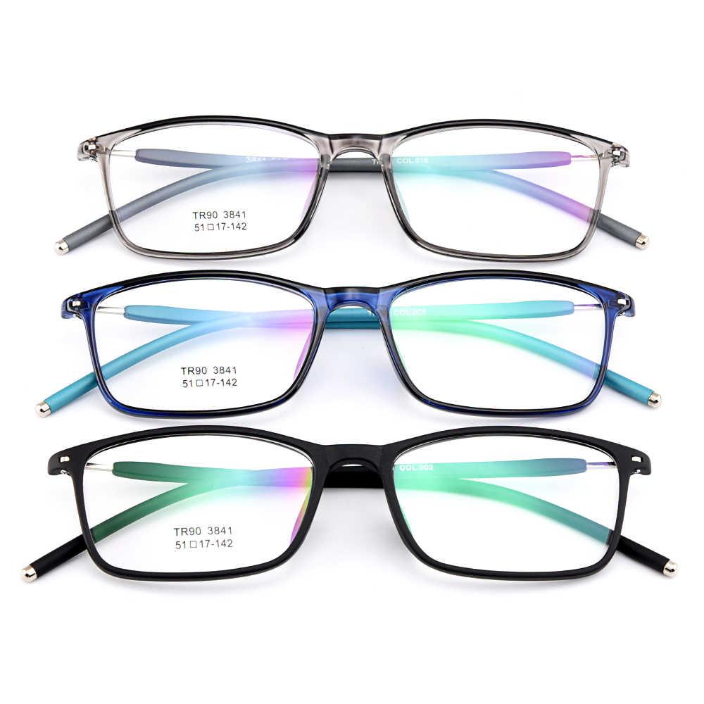 Gmei Optik Trendi Ultralight TR90 Penuh Rim Wanita Optik Kacamata Bingkai Kacamata Pria Plastik Miopia Kacamata 3 Warna Opsional M3841
