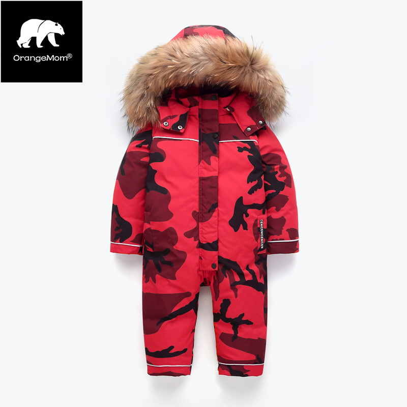 Orangemom children winter clothing warm outerwear & coats duck Waterproof snow wear outerwear winter jacket for boy kids coats children clothing winter outerwear