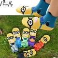 creative 3d Minions art emoji socks Cute Female ladies socks cotton 2017 new hot sale pairs no show cartoon socks hosiery
