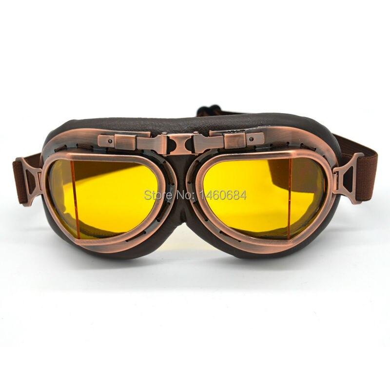 Evomosa Neue Universal Vintage Pilot Biker Motorrad-schutzbrille brille für Helm Open Face Halb Motocross Goggles Für Harley Ktm