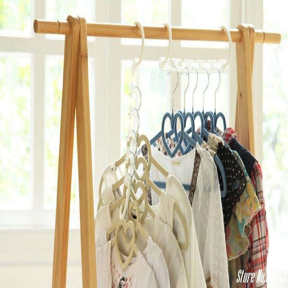 New Arrival 8Pcs Clothes Hanger Rack Wardrobes Shop Closet Wardrobe Clothing Hooks Space Saver Home Organizer Set