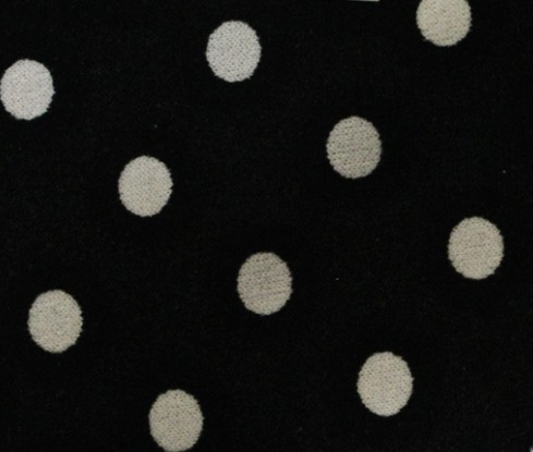 Xery-jw Spirited Fashion Ity Fabric Spot Size Can Be Customized,soft And Tender Touch Black Ground With White Spots