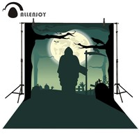 Allenjoy photography backdrop Raven Moon Cemetery Horror Death new background photocall customize photo printed studio backdrop