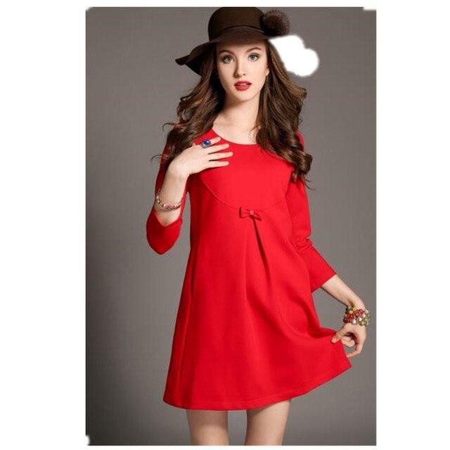 Free ship 2017 nova primavera maternidade dress lace comprimento do joelho a-line dress maternidade roupas b0011