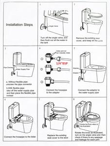 Image 5 - Anpro Non Electric Toilet Seat Water Sprinkler Bathroom Mechanical Bidet Fresh Water Nozzle Single Sprinkler Toilet Washing Gun