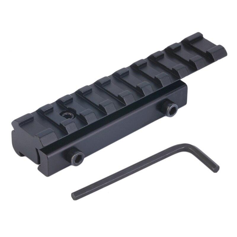 11mm à 20mm Picatinny Rail Adaptateur Carril Weaver Rail avec 9 machines à sous et 100mm Longueur pour La Chasse Fusil Pistolet À Air Portée Montage