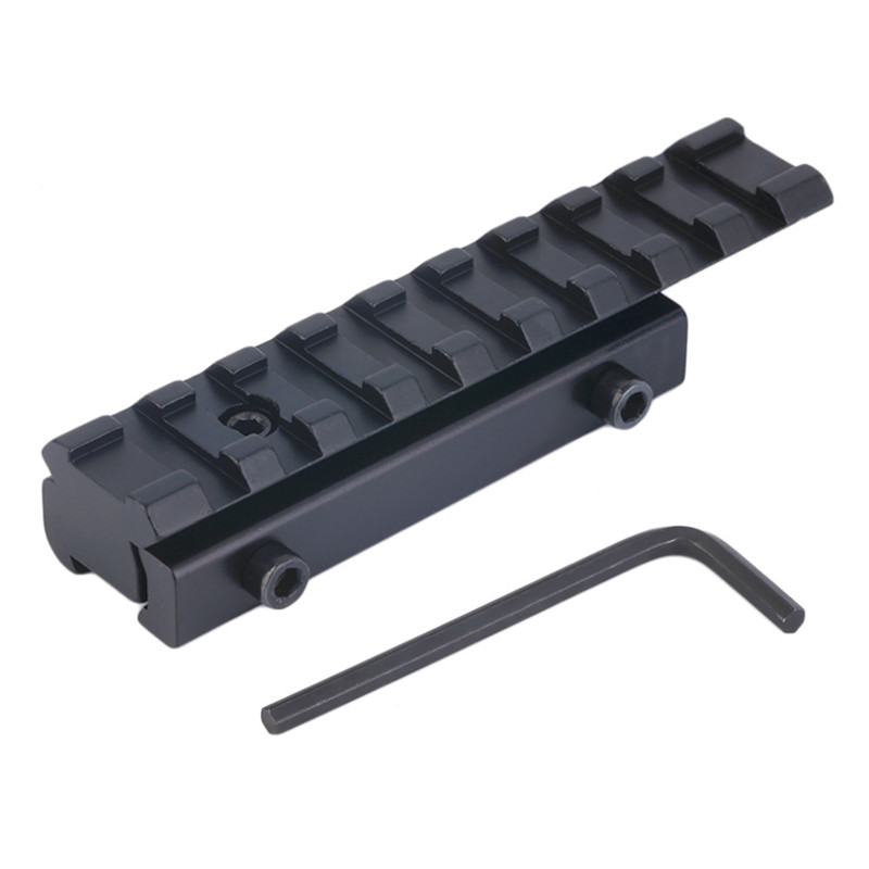 11mm to 20mm Picatinny Rail Adapter Carril Weaver Rail with 9 Slots and 100mm Length for Hunting Rifle Air Gun Scope Mount ohhunt tactical 11mm to 20mm picatinny weaver rail scope extension d0026 mount base adapter converter for hunting