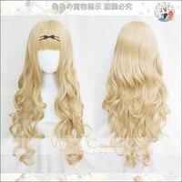Shugo Chara ! Party ! Cosplay Wig Mashiro Rima 80cm Long Curly Blonde Wig Dokki Doki Pucchi Puchi Synthetic Hair