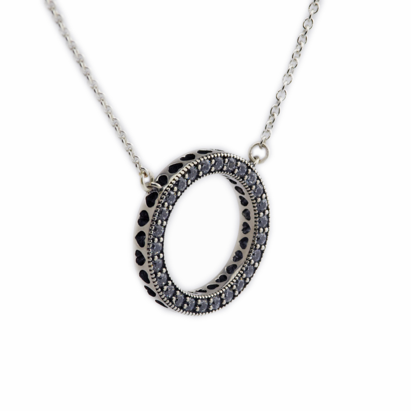 New 2016 925 Sterling Silver Choker font b Necklace b font Hearts of PAN font b