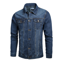 Fashion Classical Men Jacket Dark Blue Vintage Designer Casual Denim Jacket Men Cotton Coat Big Size M-5XL Hip Hop Jacket Hombre цена