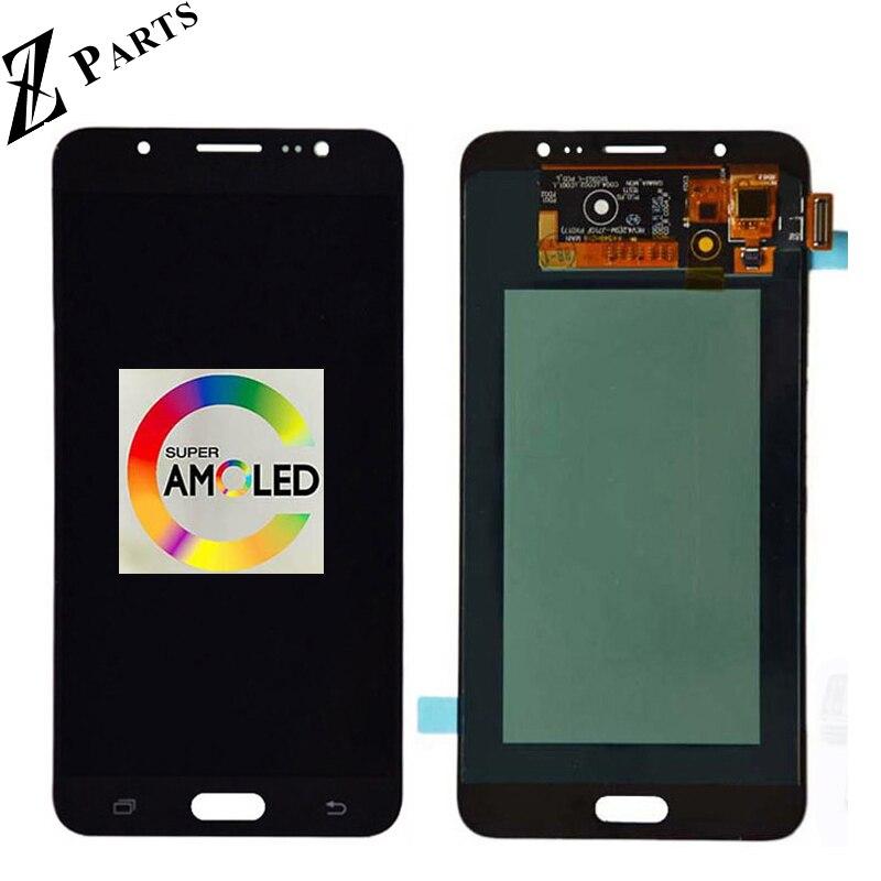 100% первоначально AMOLED ЖК-дисплей для Samsung Galaxy J7 2016 J710FN J710F J710M J710Y ЖК-дисплей Дисплей с Сенсорный экран планшета Ассамблеи